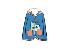 Cappotto femminile sveglio del rivestimento Fotografia Stock Libera da Diritti
