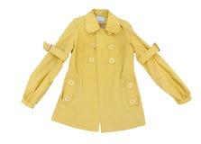 Cappotto giallo fotografie stock libere da diritti