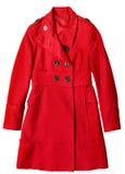 Cappotto lungo della donna Fotografia Stock