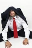 Cappotto sulla testa dell'uomo Fotografia Stock Libera da Diritti