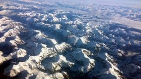 Cappucci della neve Immagine Stock