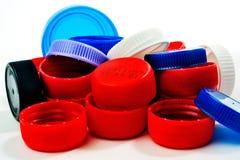 Cappucci di recupero di plastica Fotografia Stock Libera da Diritti