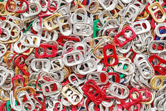 Cappucci di tirata dell'anello della birra Fotografie Stock Libere da Diritti