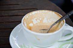Cappuccino är tom Arkivfoto