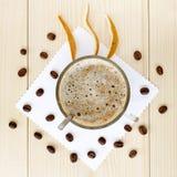 Cappuccino με τη γεύση εσπεριδοειδών Στοκ Φωτογραφία