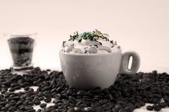 Cappuccino με τις καραμέλες στοκ φωτογραφίες με δικαίωμα ελεύθερης χρήσης