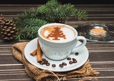 Cappuccino Χριστουγέννων Στοκ εικόνες με δικαίωμα ελεύθερης χρήσης
