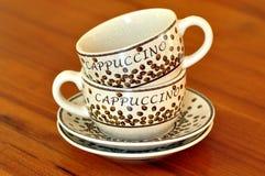 Cappuccino? Lizenzfreie Stockfotos