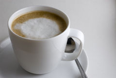 Cappuccino. A refreshing cup of Italian Cappuccino Coffee stock image