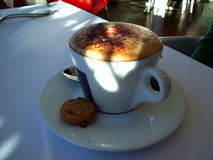 Cappuccino. Coffee in a cafe Royalty Free Stock Image