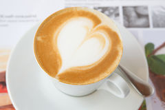 Cappuccino. Cup of fresh cappuccino flavored Stock Images