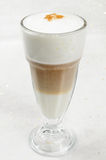 Cappuccino. A glass cup of cappuccino Royalty Free Stock Photography