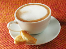 Cappuccino. Dolce far niente Royalty Free Stock Image