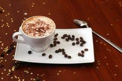 Cappuccino aromatisé images libres de droits