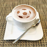 Cappuccino art in a coffee cup Royalty Free Stock Photos