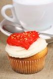 cappuccino babeczki dzień s valentine Obrazy Royalty Free