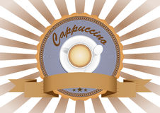 Cappuccino badge Royalty Free Stock Photos