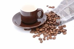 Cappuccino and Beans Stock Images