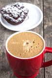 Cappuccino and biscotti Royalty Free Stock Images