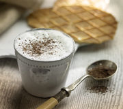 CAPPUCCINO AND BISCUIT Royalty Free Stock Photos