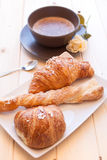 Cappuccino and Brioches Stock Photography