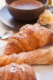 Cappuccino and Brioches Royalty Free Stock Images