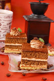 Cappuccino cake Stock Images