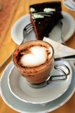 Cappuccino and Cake Royalty Free Stock Images