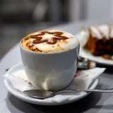 Cappuccino and cake Stock Image