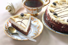 Cappuccino cake Royalty Free Stock Photography