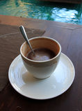 Cappuccino caldo Fotografie Stock Libere da Diritti