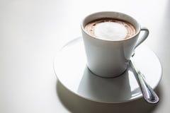Cappuccino caliente imagen de archivo libre de regalías