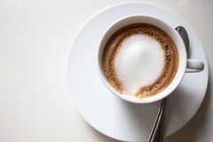 Cappuccino caliente foto de archivo