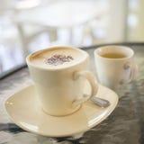 Cappuccino caliente Fotografía de archivo