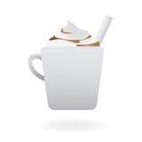 Cappuccino caliente cremoso Imagen de archivo libre de regalías