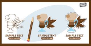 Cappuccino. Logo, drink Set of vector illustrations vector illustration