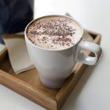 cappuccino Cappuccino terminado Fotografia de Stock