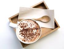cappuccino Cappuccino terminado Foto de Stock Royalty Free