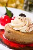 Cappuccino Cheesecake Stock Photography