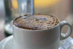Cappuccino With Chocolate Stock Images
