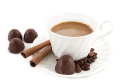 Cappuccino and chocolate Royalty Free Stock Images