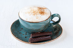 Cappuccino with chocolate Royalty Free Stock Photos