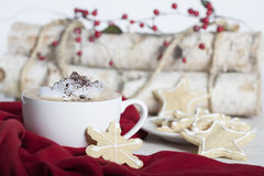 Cappuccino Christmas Cookies Stock Photos