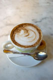 Cappuccino with cinnamon royalty free stock image