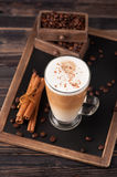 Cappuccino with cinnamon Royalty Free Stock Photo