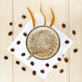 Cappuccino with citrus flavor Stock Photography