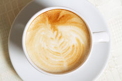 Cappuccino closeup photo Royalty Free Stock Photos