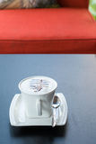 Cappuccino co ffee cup ,Hot coffee Stock Image