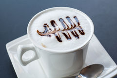Cappuccino co ffee cup ,Hot coffee Stock Photography