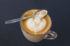 Cappuccino coffee. Bar break cafe caffeine cappuccino Royalty Free Stock Photography